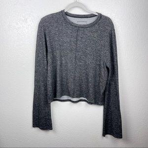 Good hYOUman dark gray soft middle seam sweater